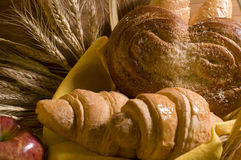 Bread food in a basket Royalty Free Stock Photography
