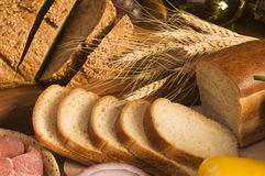 Bread food close-up Royalty Free Stock Photos