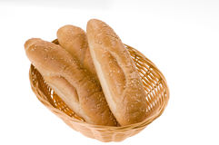 Bread Food In A Basket Royalty Free Stock Images