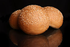 Bread. Fresh Bread with  Sesame Royalty Free Stock Images