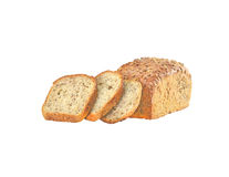 Bread. Fresh toasted bread slices on white Stock Images