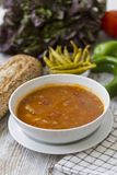 Bread , fresh vegetables and beans Stock Photo