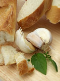 Bread with garlic Stock Image