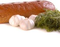 Bread and garlic Royalty Free Stock Image