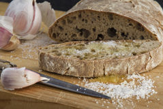 Bread with garlic Royalty Free Stock Image