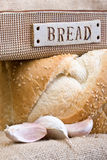 Bread And Garlic Cloves royalty free stock photos