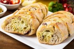 Bread with garlic Stock Photos