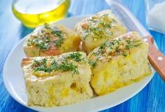 Bread with garlic Royalty Free Stock Photos