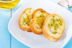 Bread with garlic Royalty Free Stock Photo