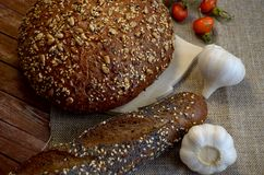 Bread with garlic royalty free stock photography
