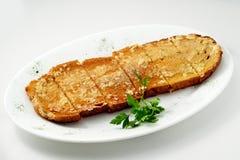 The bread with garlic Stock Photos