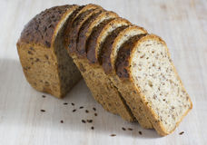 Bread with germinated grain of wheat Stock Photos