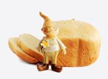 Bread and gnome Stock Photo