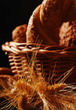 Bread, grain and ears Royalty Free Stock Image