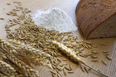 Bread and grains Stock Photography