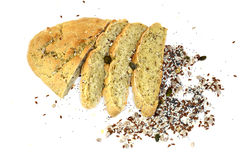 Bread with grains in Sofia , Bulgaria Stock Photo