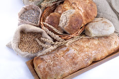 Bread and grains Royalty Free Stock Photos