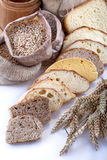 Bread and grains Stock Image