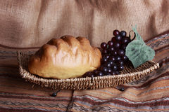 Bread and grapes Stock Photography