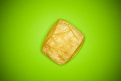 Bread on green Royalty Free Stock Photo