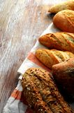 Bread group from artisan bakery elaboration Royalty Free Stock Images