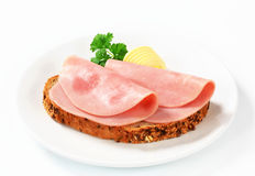 Bread and ham Stock Images