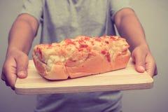 Bread ham cheese Stock Photography