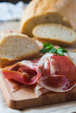 Bread and Ham Slices Royalty Free Stock Images
