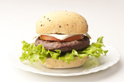 Bread with hamburger Royalty Free Stock Photos