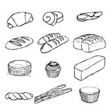Bread Hand drawing  set eps 10 Stock Photo