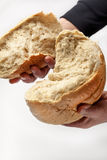 Bread in Hands stock photography