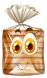 Bread with happy face Royalty Free Stock Photos