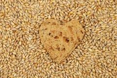 Bread heart and barley Stock Photos