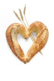 Bread heart shaped Stock Photo