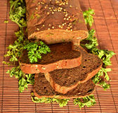 Bread with herbs Royalty Free Stock Image