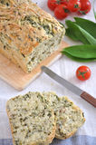 Bread with Herbs Stock Images