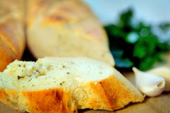 Bread with herbs Royalty Free Stock Images