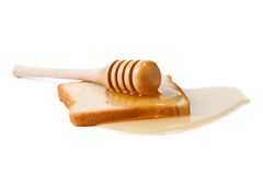 Bread and honey Royalty Free Stock Images