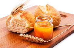Bread and honey Royalty Free Stock Photo