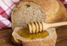 Bread and Honey Royalty Free Stock Photos