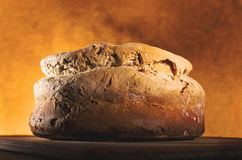 Bread with hot oven in the background. Royalty Free Stock Images