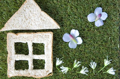 Bread house with garden Royalty Free Stock Photos