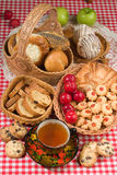 Bread In Human Life. Still life in rural style royalty free stock photography