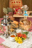 Bread In Human Life. Still life in rural style royalty free stock image
