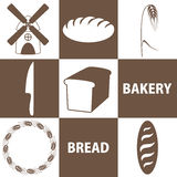 Bread. Icon Set Royalty Free Stock Photos
