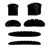 Bread icon set Royalty Free Stock Images