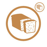 Bread icon. Royalty Free Stock Image