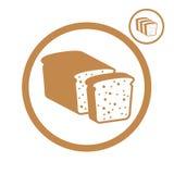 Bread icon. Royalty Free Stock Image