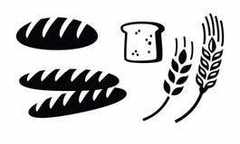 Bread icon. Vector black illustration of bread icon on white vector illustration