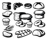 Bread icon Stock Images